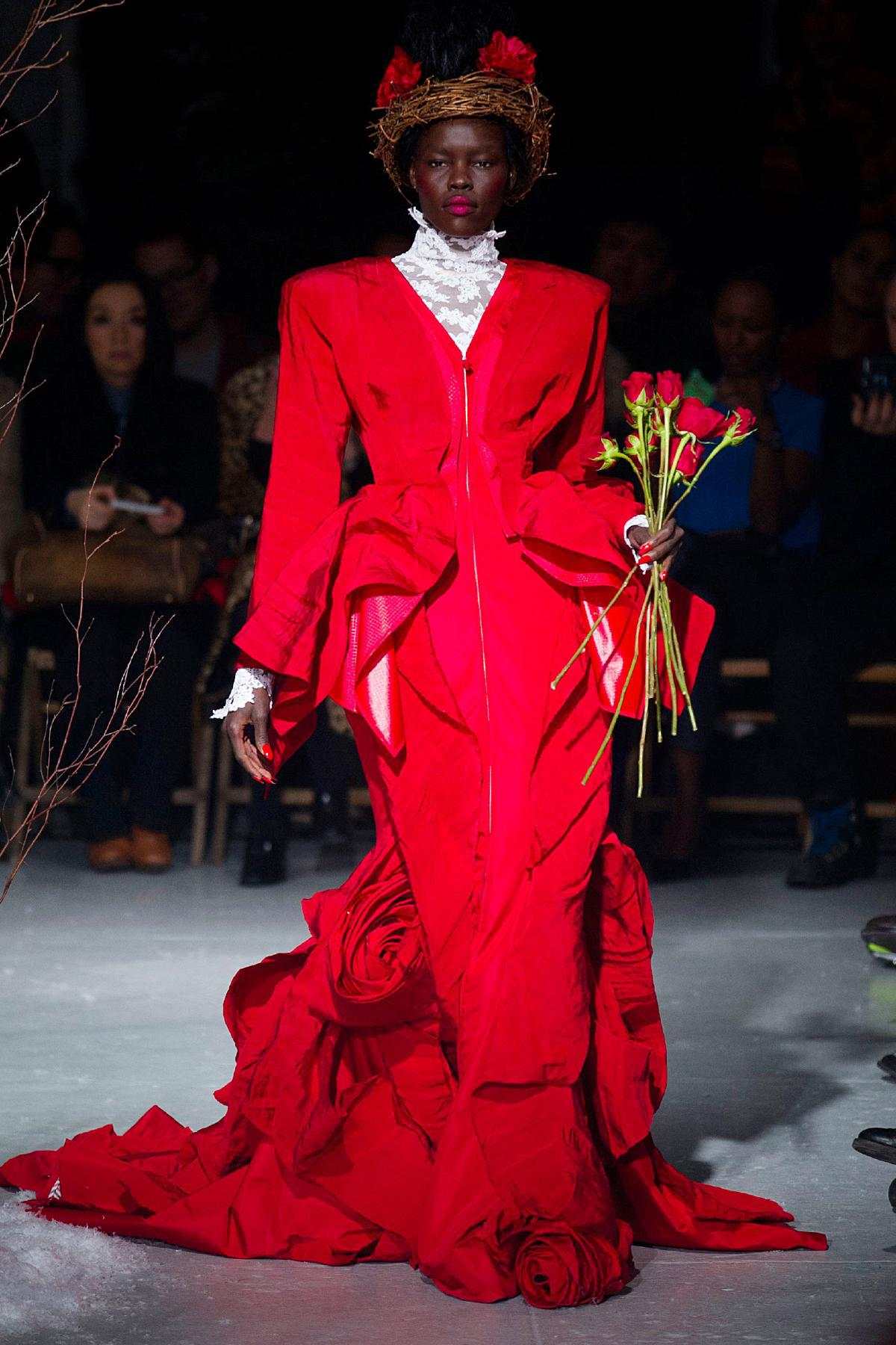 Thom-Browne-FW2013-red-roses-gown-NYFW