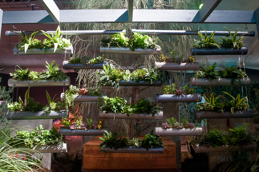 A deconstructed horizonal/vertical garden, if you will, by Eco Minded Solutions. Garden master: Barry Thau.