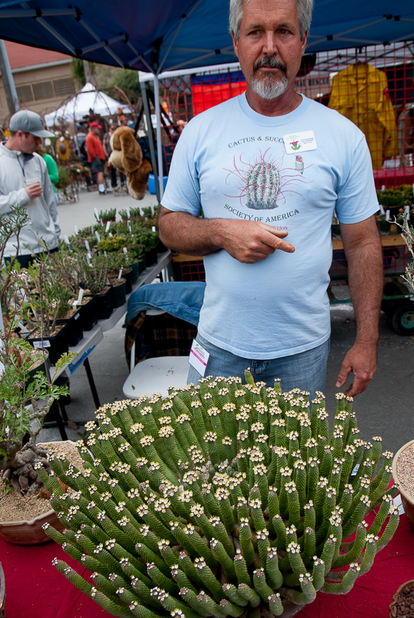 At the next booth, for the Cactus & Succulent Society of America, we bowed to the medusa euphorbia. Here, Peter Walkowiak provides the ID.