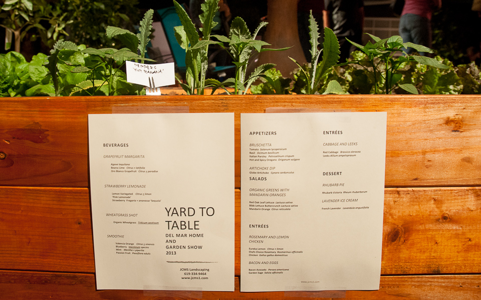 An endearing farm-to-table menu for your garden, courtesy of JCMS Landscaping.