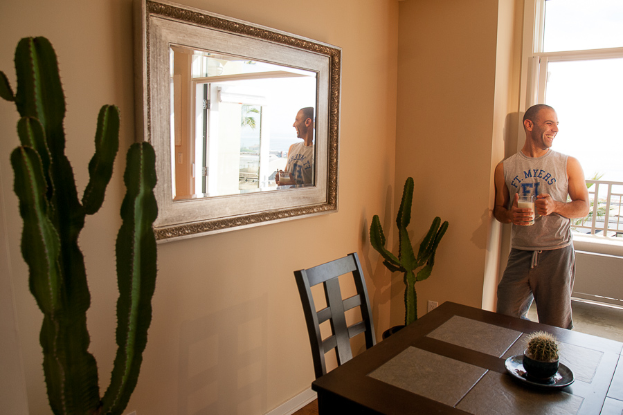 """Sam's Euphorbia ingens are absolute beauts. He picked them up at Exotic Gardens for a song. """"I imagine them wandering the desert or being prayed to by some ancient civilization,"""" he says."""