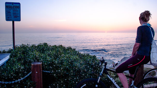 Windansea sunset in La Jolla California