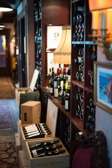 The extraordinary wine cellar includes 26,000 bottles and 2,200 selections, including a vintage from 1795.