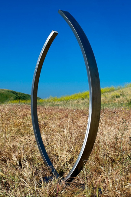 Embrace, stainless steel, TerraSculpture