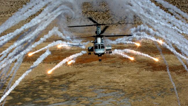 China Lake CH-46 Flare Firing