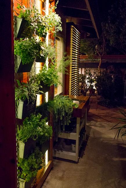 The Horticult Garden Tour - The Sun Room - Ryan Benoit Design - Ammo Can Vertical Herb Garden