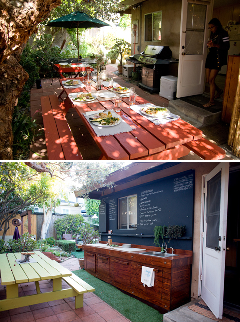 """Our """"side yard"""" transformation, 2009 to 2013."""