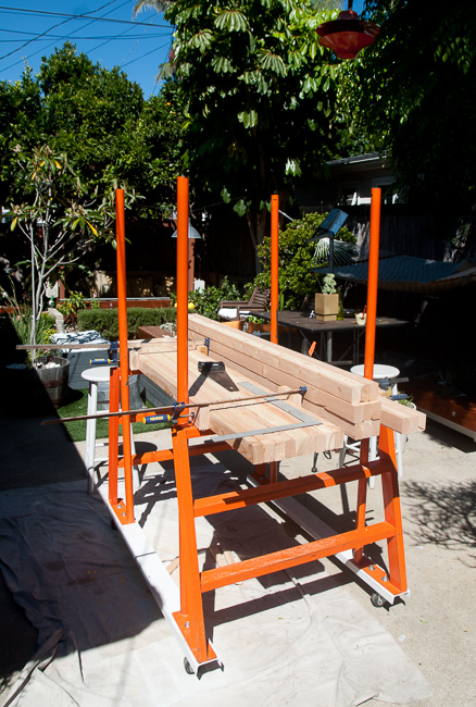 The arbor mid-construction in October 2011.