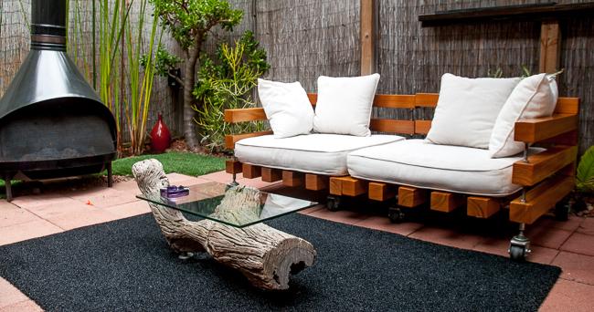 The Horticult Garden Tour - The Fireside Room - Ryan Benoit Design - Cedar sectionals