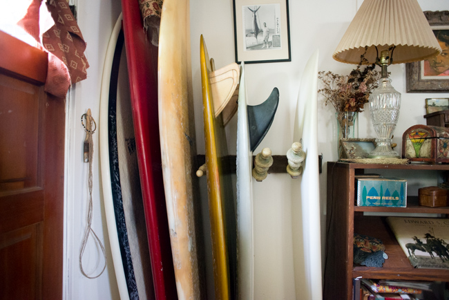 Joe Skoby surfboard rack.