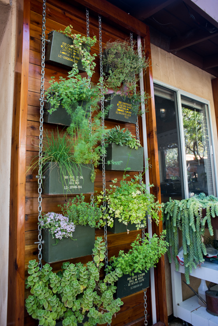 Ammo can herb garden wall - Ryan Benoit Design