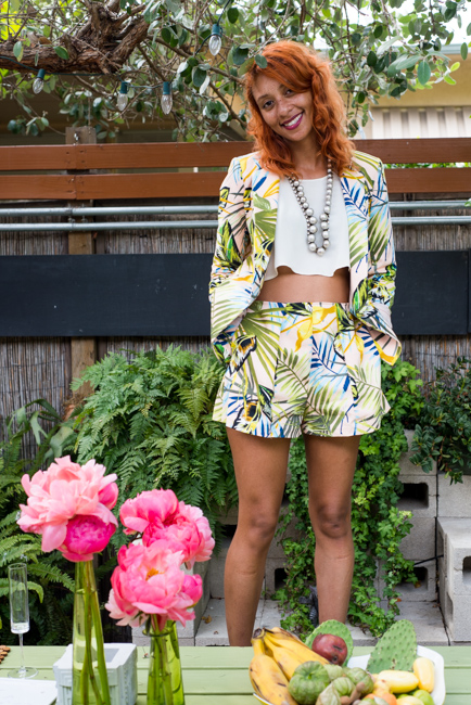 """And yes, I went full """"florcore"""" with this tropically printed suit from Asos."""