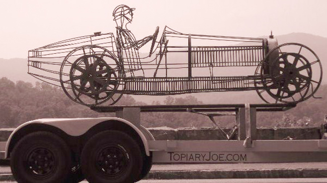 Bugatti type 35b in wire