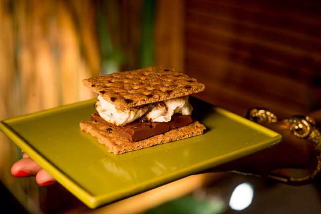 Toasted backyard s'mores.