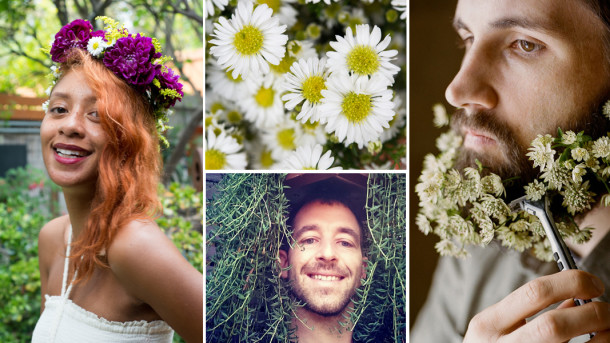 Flower beard photo by Ashley Thalman and styling by Sarah Winward, others by Ryan Benoit