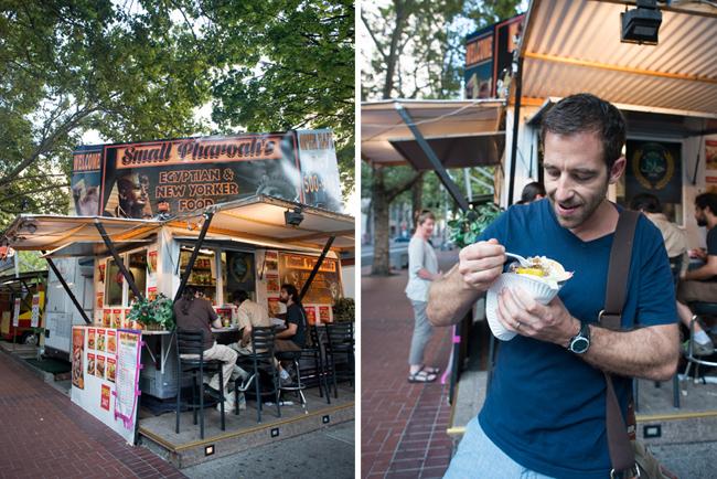 Return to the food carts. Gyro at Small Pharoah's
