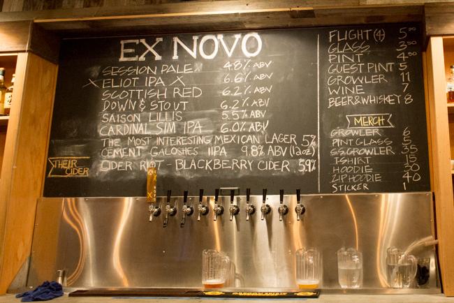 Ex Novo Brewing Company in Portland, Oregon.