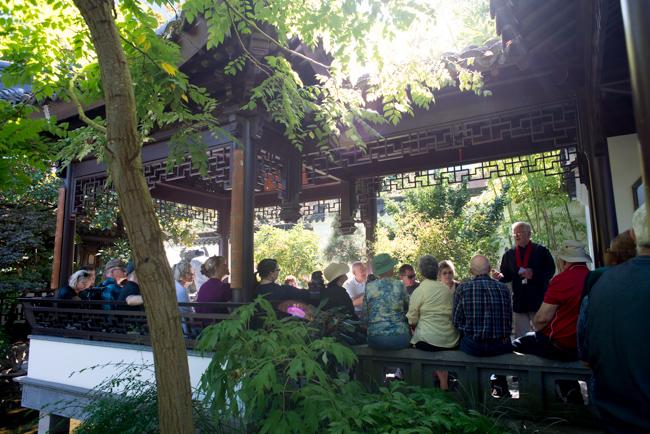 Lan Su Chinese Garden In Portland, Oregon.
