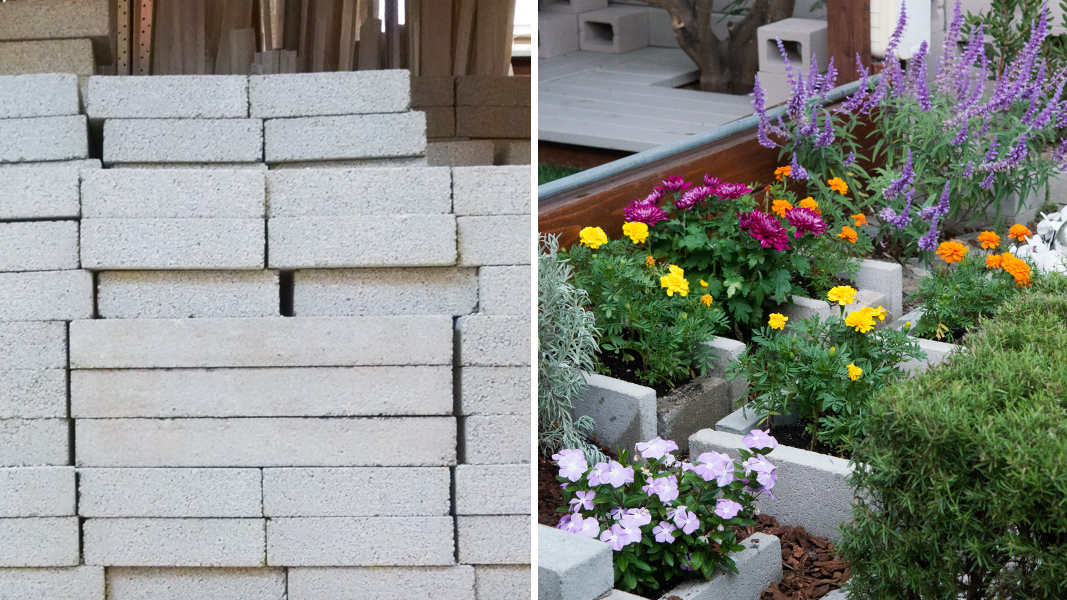 Cement Raised Flower Beds : Block party how to make quick and easy raised beds for