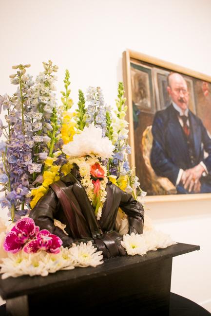 """Brock Saucier of Imma Shaw Designs - Floral Interpretation of """"Portrait of Alexander Freiherr Von Reitzenstein"""" by Lovis Corinth"""