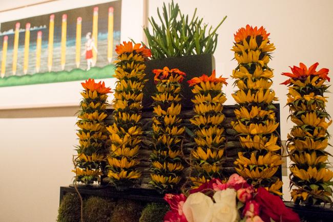 Lora Lemus for Tish Toy of Neiman Marcus Visual Presentation — floral interpretation of El hilo de Ariadna