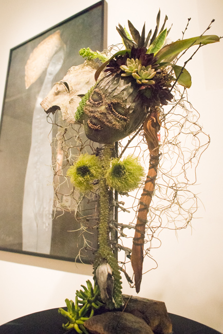 "Sharon Mintz of Organic Elements — floral interpretation of ""Narciso"" by Sandra Ramos."
