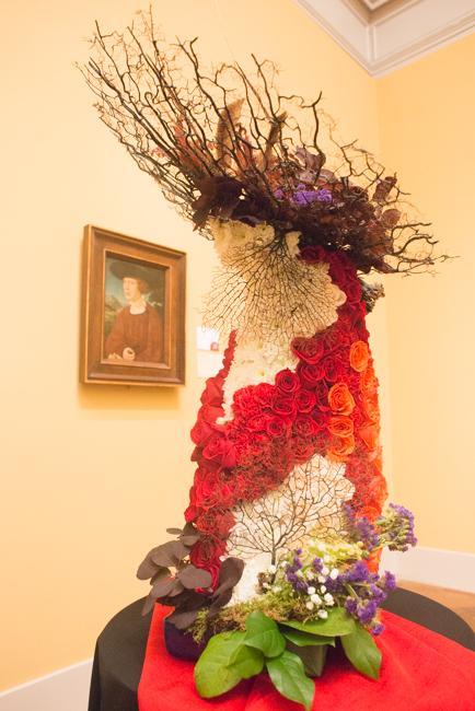 "Anne Heyne — floral interpretation of ""Portrait of a Young Man"" by Jörg Breu."