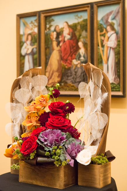 "Vita Reivydas — floral interpretation of ""Mystic Marriage of Saint Catherine with Saints and Angels"" by The Master of Frankfurt."