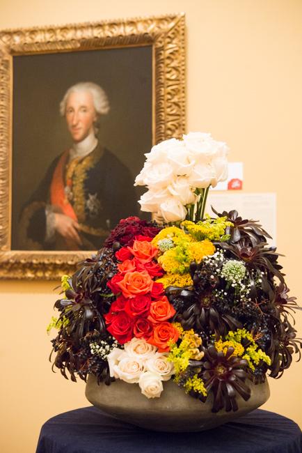"""Donna McLee — floral interpretation of """"Portrait of Don Luis de Borbón, Infante of Spain"""" by Anton Raphael Mengs."""