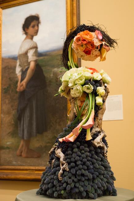 "Jolene De Hoog Harris of The Dutch Flower, floral Interpretation of ""The Young Shepherdess"" by William-Adolphe Bouguereau"