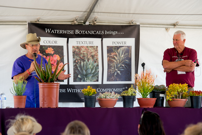 Tom Jesch co-founder Waterwise Botanicals and Robin Stockwell of Succulent Gardens