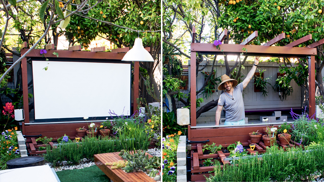 Backyard Theater Ideas show thyme: how to build an outdoor theater in your garden | the