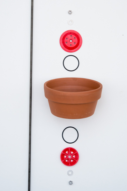 Vertical Clay Pot Garden